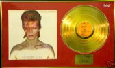 DAVID BOWIE  - LP Gold disc & cover - ALADDIN SANE